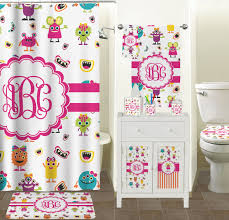 girly monsters shower curtain personalized potty training concepts