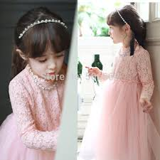 necklace with lace dress images Free shipping 2015 new long sleeve princess lace spring ball gowns jpg