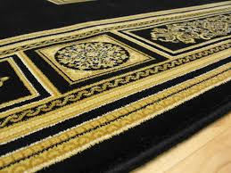 Black And Gold Rug Da Vinci Black Beige Medallion 057 0801 3233 65 00 Rugs Centre