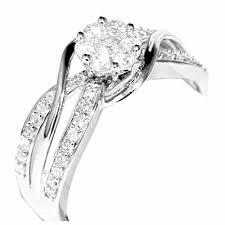 2 s ring 10k white gold 1 2 cttw diamond split shoulder bridal wedding ring