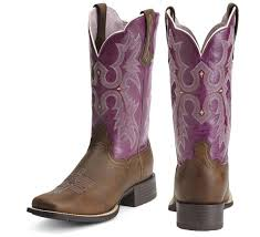 womens boots purple tombstone square toe boot