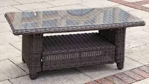 rattan coffee table outdoor kensington deluxe coffee table slate rattan outside edge metal