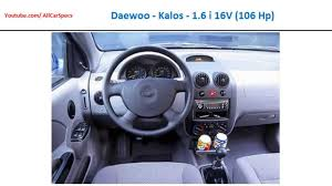 daewoo kalos 1 6 i 16v 106 hp automobile all specs youtube