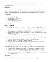 Sample Resume For Health Care Aide by Professional Public Nurse Templates To Showcase Your Talent