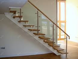 Glass Stairs Design Impressive Glass Stairs Design Indoor Stair Design With Wood Tread