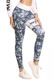 light pink leggings womens womens elastic high waist leaves printed yoga sports leggings light