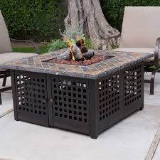 Square Patio Table Furniture Palm Harbor 5 Piece Outdoor Wicker High Dining Set With