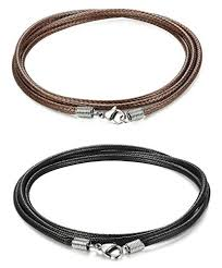 braided necklace images Orazio 2pcs 3mm woven braided necklace cord rope necklace for men jpg