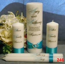 personalized candle personalized script unity set personalized wedding favours