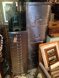 industrial looking polished metal filing cabinets shabby chic