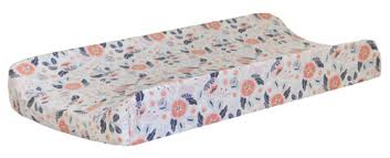 Navy And Coral Baby Bedding Navy And Coral Floral Changing Pad Cover Floral Changing Pad