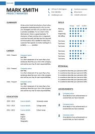 Word Resume Template 2014 Captivating Project Manager Resume Management Samples Construct