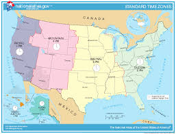 Unites States Map by United States Time Zone Map U2022 Mapsof Net