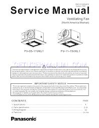panasonic fan fv 05 11vk1 panasonic ventilation fans fv 11 15vk1 service manual download free
