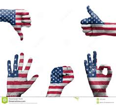 The Flag Of Usa Hand With The Flag Of The Usa Stock Illustration Image 40524993