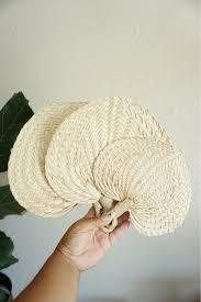 raffia fans woven straw raffia fan various sizes