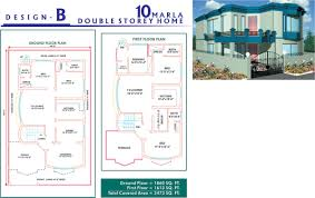 10 marla house map design plan layout autocad 2d maps