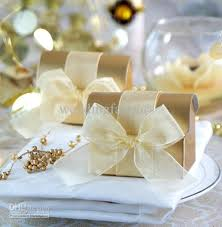 Treasure Chest Favors by Golden Treasure Chest Box Favors With Organza Ribbon Bow