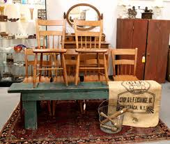 found in ithaca antique plank seat chairs sold