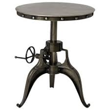 Industrial Pedestal Table Shop Houzz Pedestal Tables For Every Style