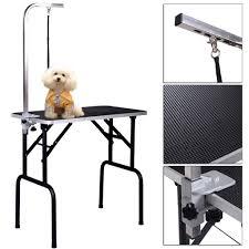 table top grooming table pet dog cat grooming table top foam adjustable table w armandnoose