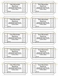 free printable raffle ticket template printable numbered raffle