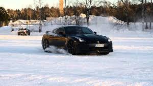 Nissan Gtr Drift - nissan gt r snow drifting youtube