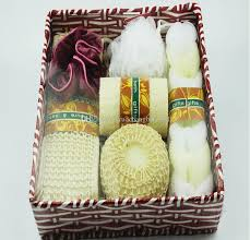 Bathroom Gift Baskets 2017 Orange Color Bath Set Basket Sets Loofah Spone Bath Flower