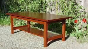 Craftsman Coffee Table Voorhees Craftsman Mission Oak Furniture Greene And Greene Style