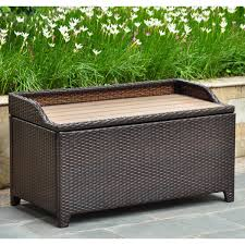 Storage Chest Bench Wicker Storage Chest Bench Combined With Its Domicile Wicker