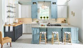 blue kitchen cabinets with granite countertops blue kitchen cabinets a trending design wellborn cabinet