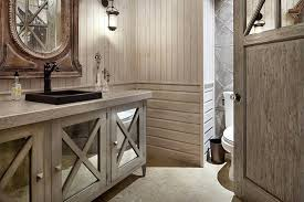 modern rustic bathroom vanity u2014 smith design warm inviting