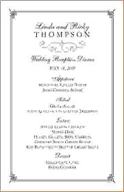 Wedding Menu Template 7 Wedding Menu Template Free Procedure Template Sample