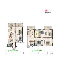 floor plans liwan queue point dubai land by mazaya