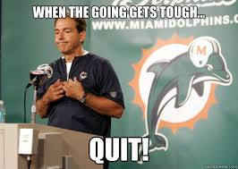 Nick Saban Memes - when the going gets tough quit nick saban in the nfl quickmeme
