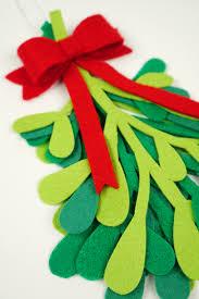 Plant Used As A Christmas Decoration Diy Christmas Decorations Felt Mistletoe Happiness Is Homemade