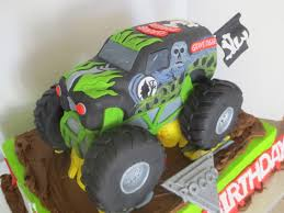 grave digger monster truck birthday party supplies monster jam cake byrdie custom cakes