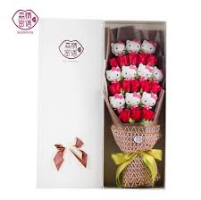 s birthday gift popular lovely hello soap roses bouquet gift