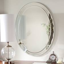 Wall Vanity Mirror Uttermost Frameless Oval Beveled Vanity Mirror Mirrors At