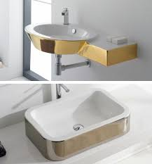 Gold Colored Bathroom Fixtures By Scarabeo Bathroom Fixtures