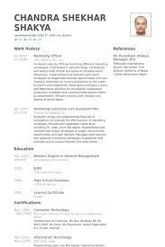 Sample Resume Masters Degree by Marketing Officer Resume Samples Visualcv Resume Samples Database