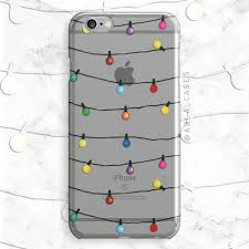 Autumn String Lights by String Christmas Lights Phone Case Clear Tpu Phone Case With