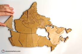 map of canada puzzle wooden 14 map of canada puzzle to world maps at arabcooking me