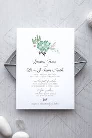 succulent printable wedding invitation invitation templates