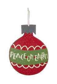 peace on earth large wooden ornament primitives by kathy