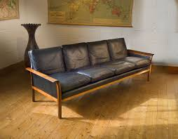 leather mid century modern sofa facil furniture