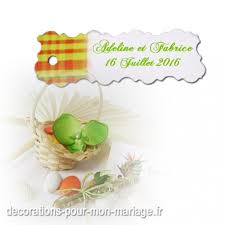 etiquettes mariage etiquette à dragées madras jaune sur decorations pour mon mariage fr