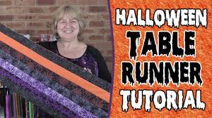 halloween table runner quilt pattern the 20 minute halloween table runner tutorial youtube