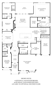 Kitchen Floor Plan by Terracina At Flower Mound The Marquette Home Design