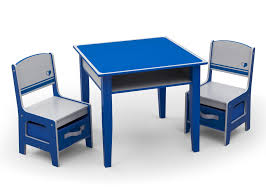 jack and jill storage table u0026 chair set blue and grey delta